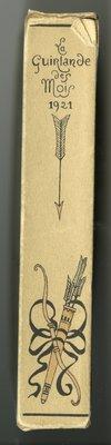 Spine of Slipcase of La Guirlande des Mois 1921