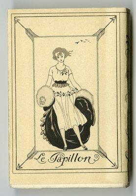 Rear of Book Jacket for La Guirlande des Mois 1921