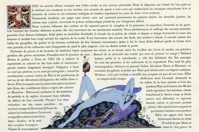 Page from Le Bonheur du Jour, 1920