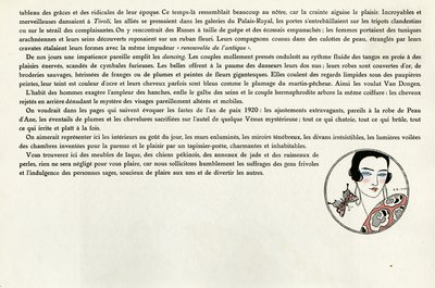 Page from Le Bonheur du Jour 1920