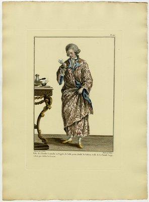 Robe de Chambre, Fashion Plate from Galerie des Modes et Costumes Français, Dessinés D'Après Nature, 1778-1787