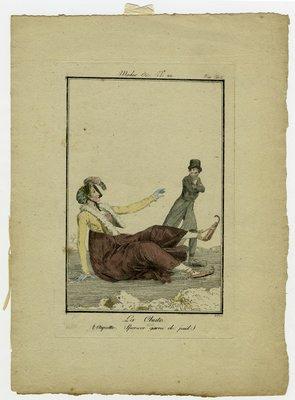 La Chute, Fashion Plate from Modes et Manières du Jour