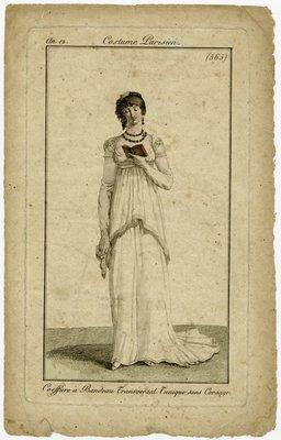Coeffure à Bandeau Transversal, Fashion Plate from Journal des Dames et des Modes