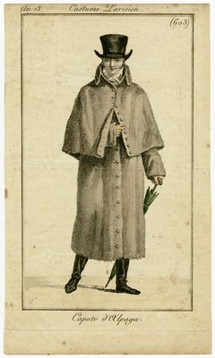 Capote d'Alpaga, Fashion Plate from Journal des Dames et des Modes