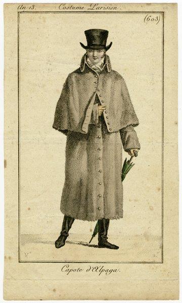 Capote d'Alpaga, Fashion Plate from Journal des Dames et des Modes