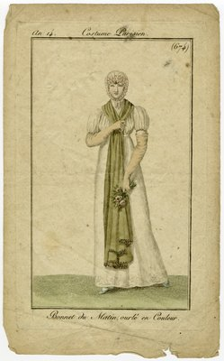 Bonnet du Matin, Fashion Plate from Journal des Dames et des Modes