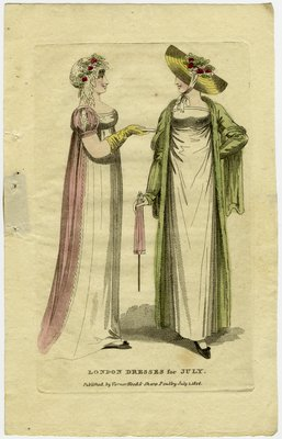 London Dresses for July, Fashion Plate Published by Vernor, Hood & Sharp