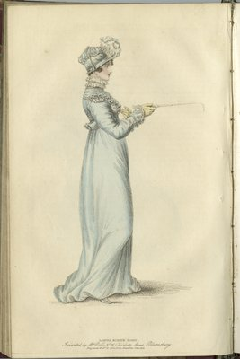 Ladies Riding Habit, Fashion Plate from La Belle Assemblée, or Bell's Court and Fashionable Magazine