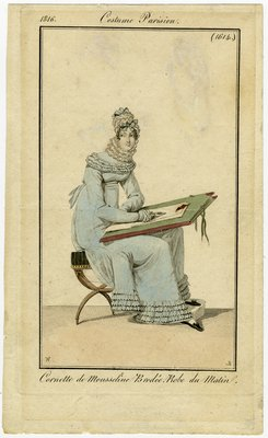 Cornette de Mouseline, Fashion Plate from Journal des Dames et des Modes
