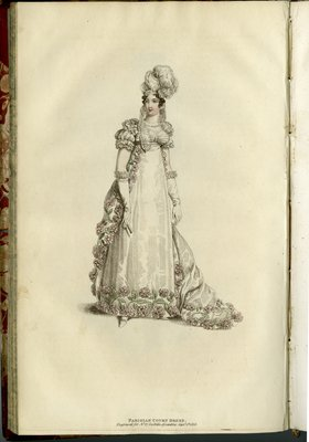 Parisian Court Dress, Fashion Plate from La Belle Assemblée, or Bell's Court and Fashionable Magazine
