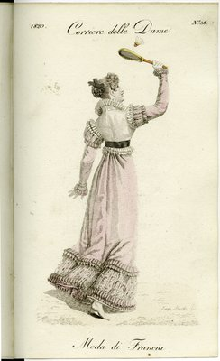 Fashion Plate from Corriere delle Dame