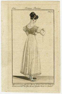 Chemise a Corsage Plisse par Derriere, Fashion Plate from Journal des Dames et des Modes