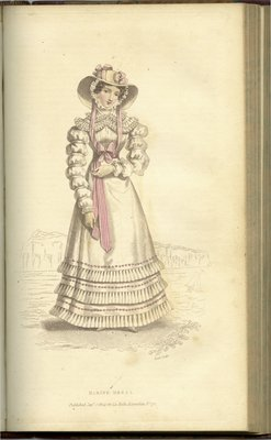 Marine Dress, Fashion Plate from La Belle Assemblée, or Bell's Court and Fashionable Magazine