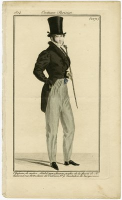 Chapeau de Castor, Fashion Plate from Journal des Dames et des Modes