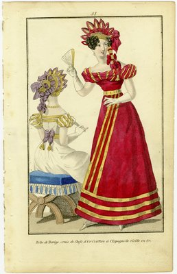 Robe de Barege, Fashion Plate from Townsend's Monthly Selection of Parisian Costumes