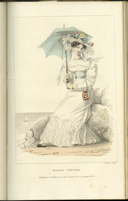 Marine Costume, Fashion Plate from La Belle Assemblée, or Bell's Court and Fashionable Magazine