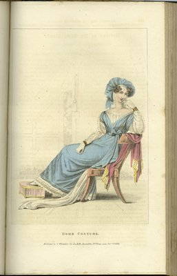 Home Costume, Fashion Plate from La Belle Assemblée, or Bell's Court and Fashionable Magazine