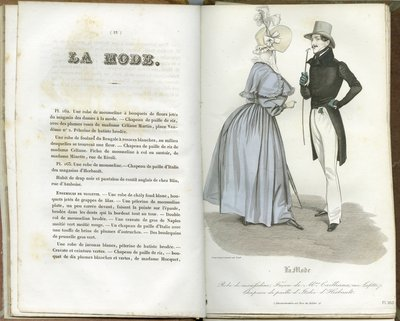 Muslin Dress, Fashion Plate from La Mode