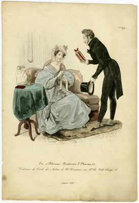 Costume Visite, Fashion Plate from Le Follet