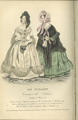 Satin Turban and Velour Hood, Fashion Plate from Le Follet