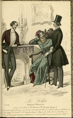 Costumes from the Studios of Monsieur Humann, Fashion Plate from Le Follet