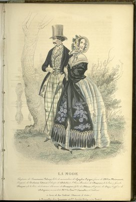 Man and Woman, Fashion Plate from La Mode