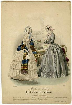 Fashions of Paris, Fashion Plate from Petit Courrier des Dames
