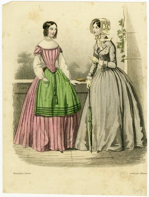 Design by L. Levert, Fashion Plate from an Unidentified French Publication