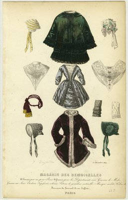 Garments and Accessories, Fashion Plate from Magasin des Demoiselles
