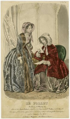 Dresses from Madame Verriev Richard, Fashion Plate from Graham's Lady's Magazine