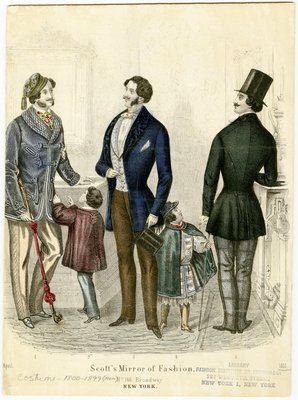 April 1851, Fashion Plate from Scott's Mirror of Fashion