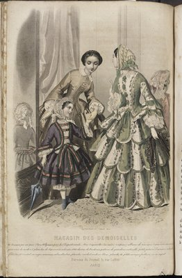 Little Fantasy Needlework Patterns, Fashion Plate from Magasin des Demoiselles