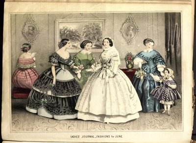 Coiffures of Paris, Fashion Plate from Petit Courrier des Dames