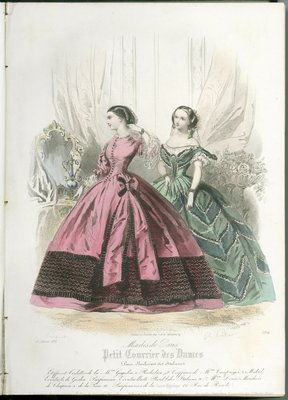 Fashions of Paris, Fashion Plate from Petit Courrier des Dames
