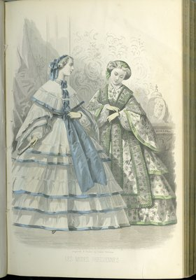 Parisian Fashions, Fashion Plate from Peterson's Magazine