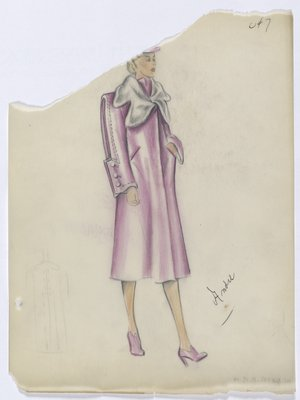 Pink Coat with Oversized Square Cuffs