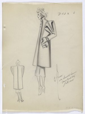 Coat with Large Puffed Sleeves