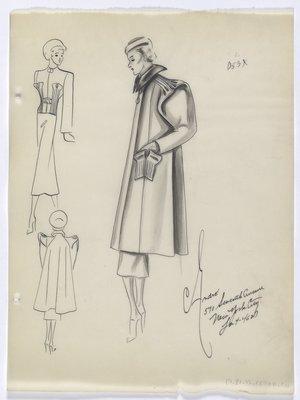 Coat with Unique Pocket