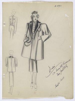 Coat with Oversized Exterior Pocket