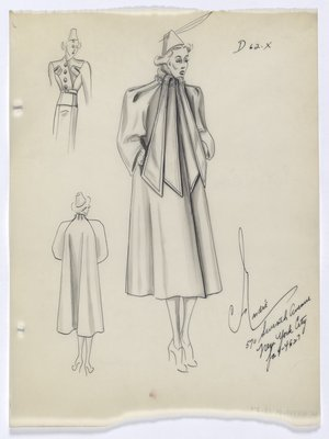 Coat with Elongated Collar Flaps