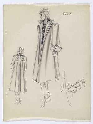 Coat with High Pointed Lapels