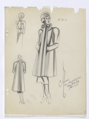 Coat with Long Front Plackets