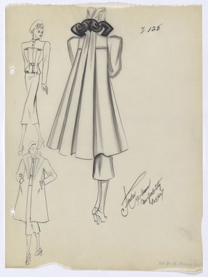 Coat with Long Back Pleats