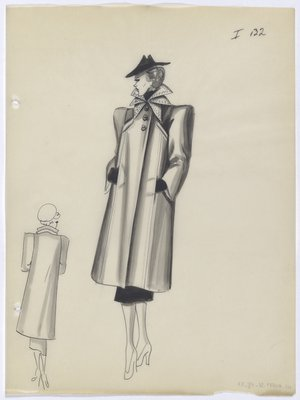 Coat with Multi-Pointed Collar
