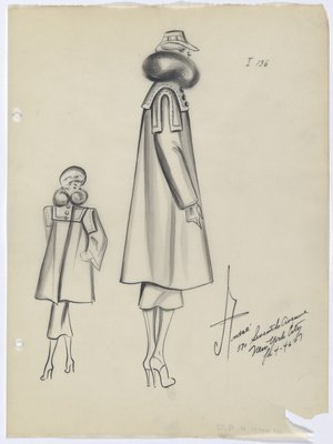 Coat with High; Round Collar and No Back Vent