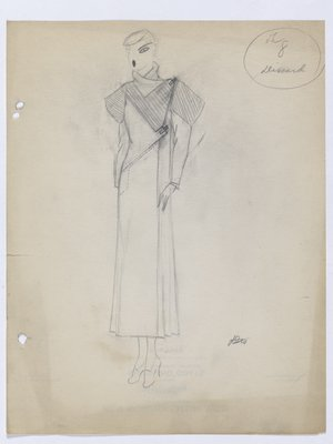 Coat with Striped Collar and Upper Sleeves