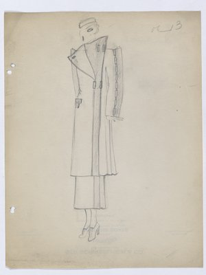 Coat with Rectangular Buttons