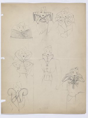 Page with Multiple Collar Drawings