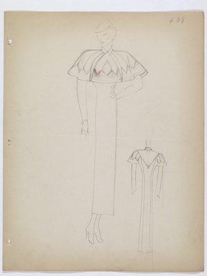 Coat with Capelet Across Shoulders