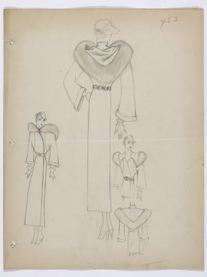 Coat with Fur-Trimmed Collar and Bell Sleeves